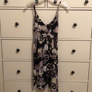 Gray, Black, and White Floral Sundress